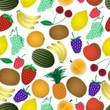 Colorful various fruit summer seamless pattern eps10 Stock Photos
