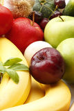 Colorful various fruits and vegetables Stock Photo