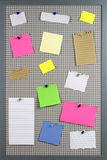 Colorful various note papers Royalty Free Stock Photos
