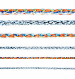 Colorful various ropes isolated on white Stock Images