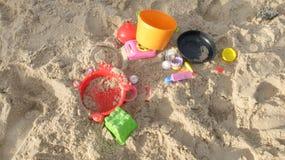 Colorful Various Type of Beach Toys Stock Photos