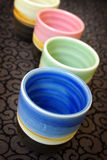 Colorful vases Royalty Free Stock Image