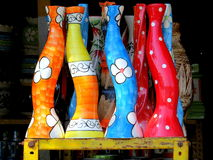 Colorful vases Stock Photos