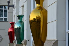 Colorful vases modern art Royalty Free Stock Photography