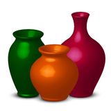 Colorful vases Stock Photo
