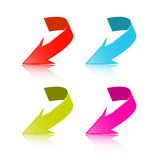Colorful Vector 3d Arrows Set Stock Photography