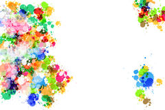 Colorful Vector Abstract Splashes Background Royalty Free Stock Images