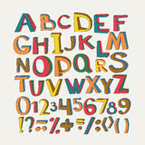 Colorful vector alphabet. Stock Image