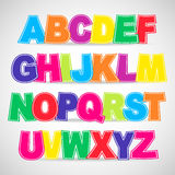 Colorful vector Alphabet Royalty Free Stock Images