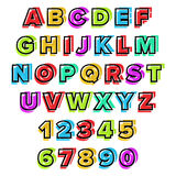 Colorful vector Alphabet Royalty Free Stock Image