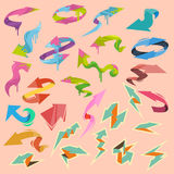 Colorful vector arrows elements Stock Photos