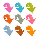 Colorful Vector Arrows Set Royalty Free Stock Photography