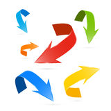 Colorful Vector Arrows Set Royalty Free Stock Photo