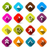 Colorful Vector Arrows Set in Squares Stock Photography