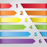 Colorful Vector Arrows Stock Image