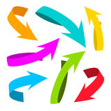 Colorful Vector Arrows Royalty Free Stock Images
