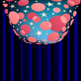 Colorful vector background. Colorful abstract background with stars and circles vector illustration