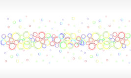 Colorful vector background. With rings Stock Photography