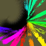 Colorful vector background. 17 hand drawn paintbrush, vector  without gradient Stock Photography