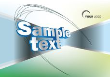 Colorful vector background with 3D sample text in green, yellow. And blue color. EPS10 Royalty Free Stock Photos