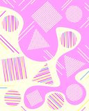 Abstract geometric background with triangles, squares and circles. Light Pastel background. Colorful vector background with geometric shapes for design stock illustration