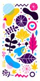 Colorful vector background with hand drawn floral elements. Can be used for advertising, web design and printed media. Colorful vector background with hand Royalty Free Stock Photo