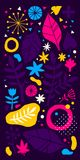 Colorful vector background with hand drawn floral elements. Can be used for advertising, web design and printed media. Colorful vector background with hand Stock Photos