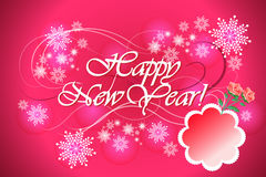 Colorful vector background for happy new year celebration - eps10 illustration Stock Image