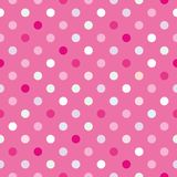 Colorful vector background with polka dots on pink background Stock Photo