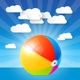 Colorful Vector Beach Ball Stock Photos