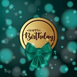 Colorful vector birthday card with bow and bokeh background. Colorful vector birthday card with bow and bokeh background Stock Images