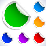 Colorful vector blank stickers. Royalty Free Stock Photography