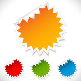 Colorful vector blank stickers. Royalty Free Stock Photos