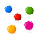 Colorful Vector Blots Icons Royalty Free Stock Images