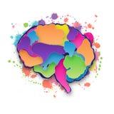 Colorful vector brain illustration stock illustration