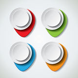 Colorful vector bubble banners Stock Image