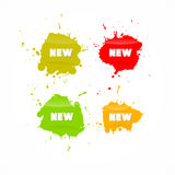 Colorful Vector Business Icons With New Title Stock Image