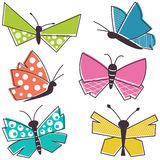 Colorful vector butterfly collection Royalty Free Stock Photo
