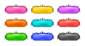Colorful vector buttons set Royalty Free Stock Image