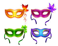 Colorful vector carnival masks set Royalty Free Stock Photos