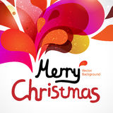Colorful vector christmas card Royalty Free Stock Photography