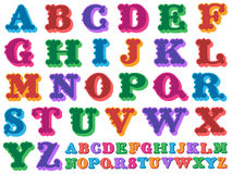 Colorful vector of the complete alphabet Royalty Free Stock Image