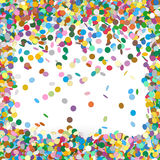 Colorful Vector Confetti Background Template. Colorful Confetti Background Template - Falling Chads Backdrop Vector Illustration stock illustration