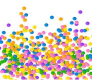 Colorful vector confetti on blue background Royalty Free Stock Photography