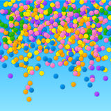 Colorful vector confetti on blue background Stock Photography
