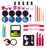 Cosmetics infographics Royalty Free Stock Photos