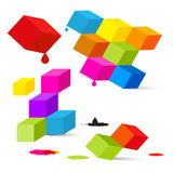 Colorful Vector Cubes Royalty Free Stock Image