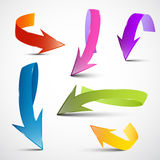 Colorful Vector 3D Arrows Set Stock Image