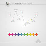 Colorful vector design for workflow layout, diagram. Infographic template Royalty Free Stock Images