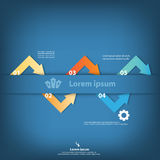 Colorful vector design for workflow layout Royalty Free Stock Photography